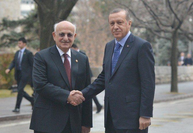 Cumhurbaşkanı Erdoğan Meclis Başkanını Ziyaret Etti