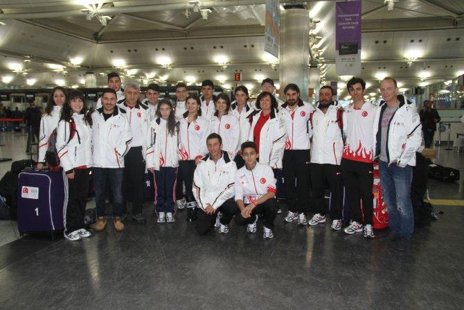 Genç sporcular olimpiyatlar için yola çıktı