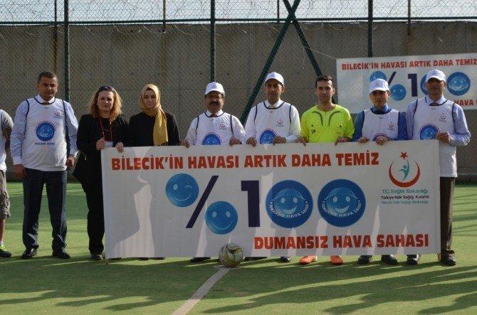Tutuklu Ve Hükümlüler, Sigaranın Zararlarına Dikkat Çekmek İçin Futbol Maçı Yaptı