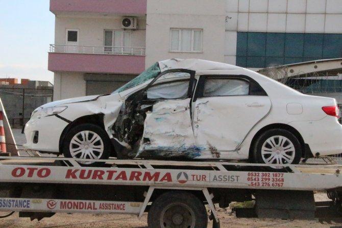Nusaybin'de trafik kazası bir kişi yaralandı