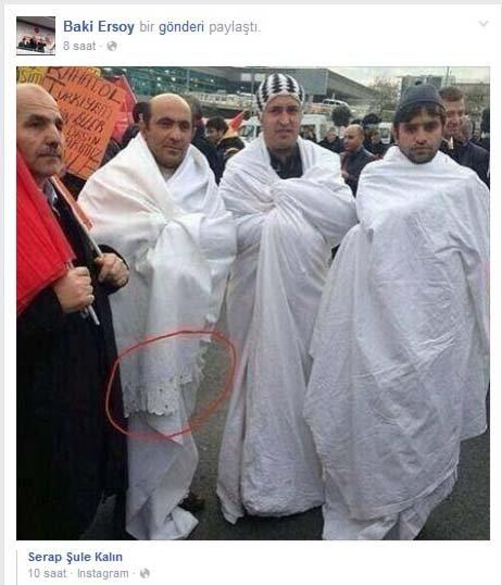 'Sen hiç dantelli kefen giyen ve Rabia işareti yapan şehit gördün mü?'