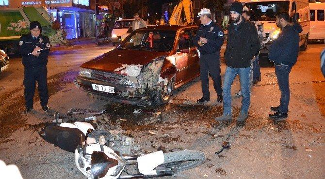 Nazilli'de Trafik Kazası:1 Yaralı