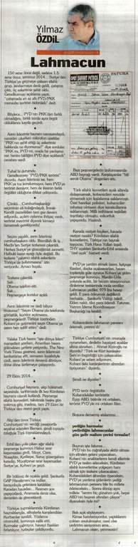 Erdoğan'a lahmacunlu PYD hatırlatması