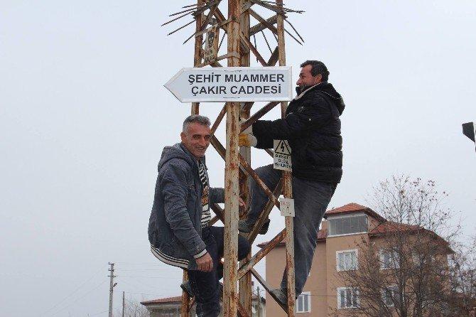 Sungurlu'da Cadde Ve Sokak Tabelaları Değiştiriliyor