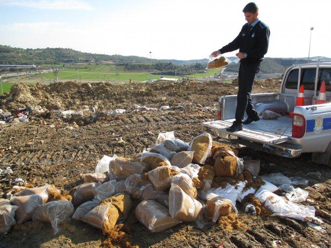 Tarsus'ta kaçak tütün, sigara ve çay operasyonu