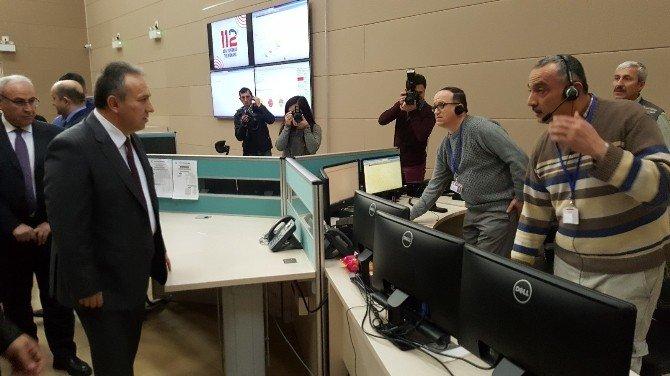 Vali Ali Fidan 112 Çağrı Merkezini İnceledi