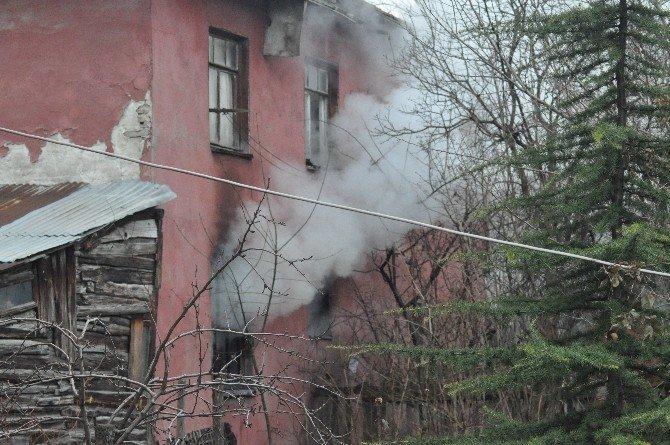 Bolu'da Metruk Binada Çıkan Yangın Korkuttu