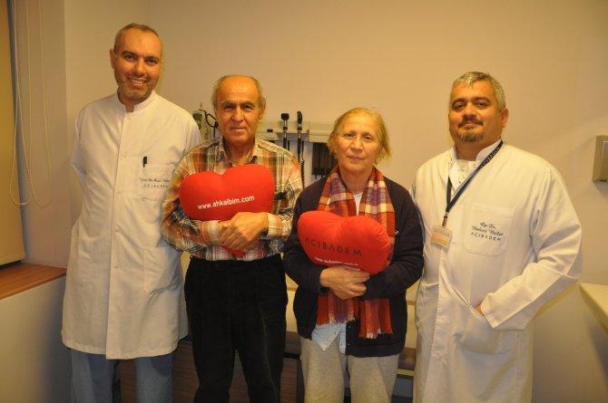 39 yıllık evli çifte aynı gün kalp ameliyatı