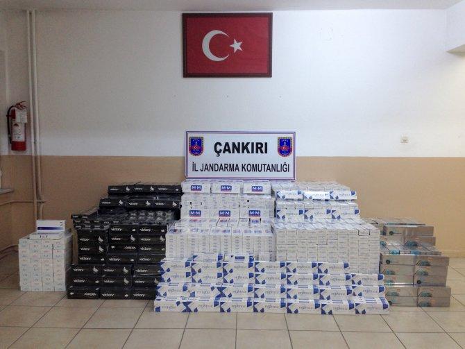 Çankırı'da 110 bin TL'lik kaçak sigara ele geçirildi