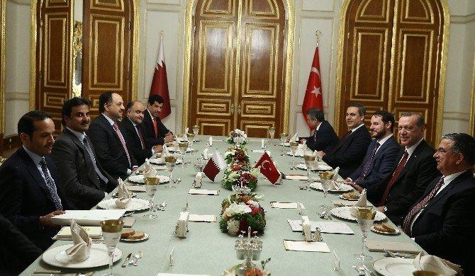 Cumhurbaşkanı Erdoğan Katar Emiri İle Bir Araya Geldi