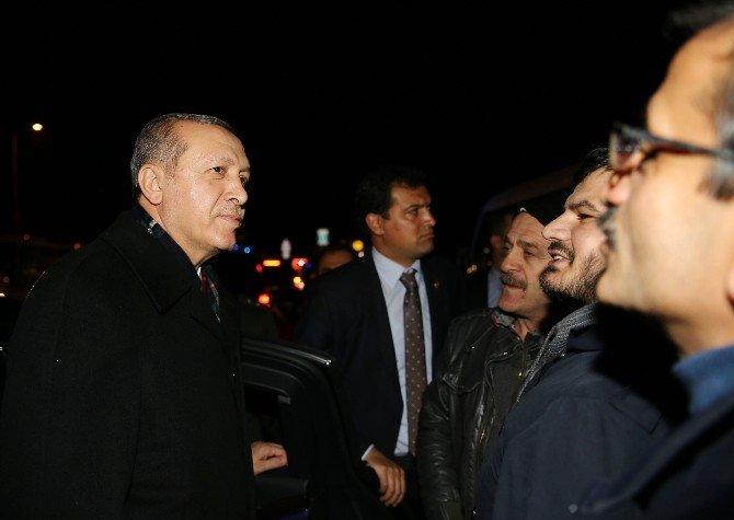 Cumhurbaşkanı Erdoğan, Taksicileri Ziyaret Etti