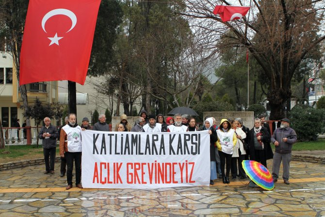 HDP Muğla İl ve ilçe örgütleri dönüşümlü açlık grevine başladı