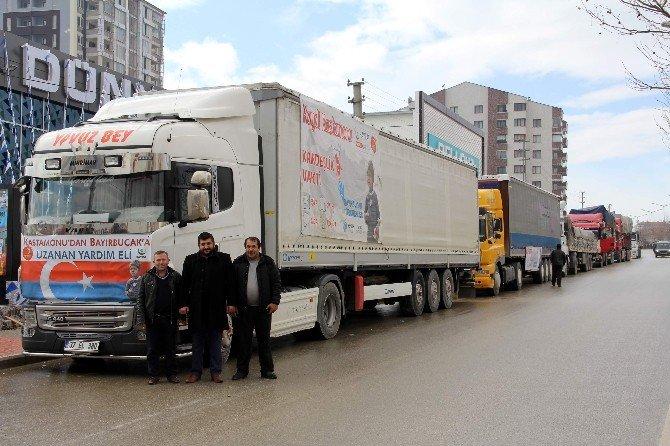 12 Yardım Tır'ı, Bayırbucak Türkmenleri İçin Yola Çıktı