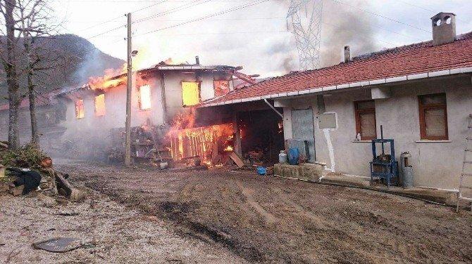 Kastamonu'da Üç Ev Yandı