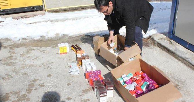Bakkalda satılan 221 adet veteriner tıbbi ürüne el konuldu