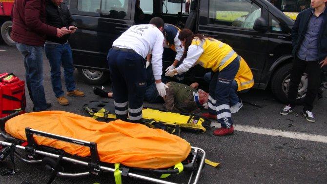 Aşırı hız sonucu kaza: 2 yaralı