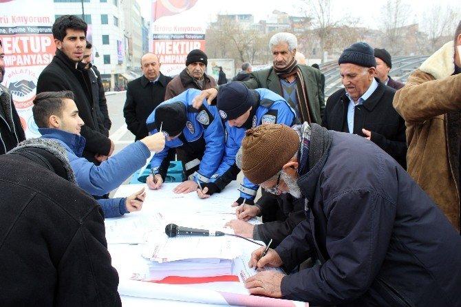 'Terörü Kınıyorum, Askerime, Polisime Yazıyorum' Kampanyası Başlatıldı