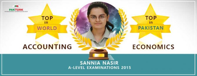 Pakistan'daki Türk okulu öğrencisi, muhasebe dalında dünya birincisi oldu