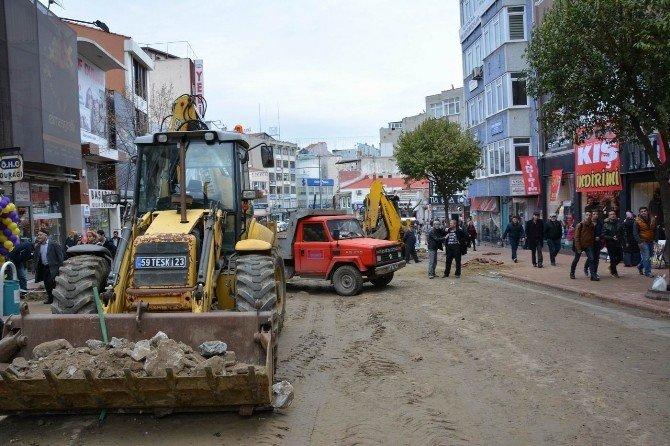 Tekirdağ'daki Yağmur Suyu Ve Kanalizasyon İnşaatı