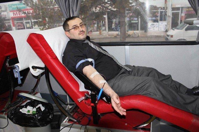 Yıldızeli İlçe Müftülüğü Kan Bağışında Bulundu