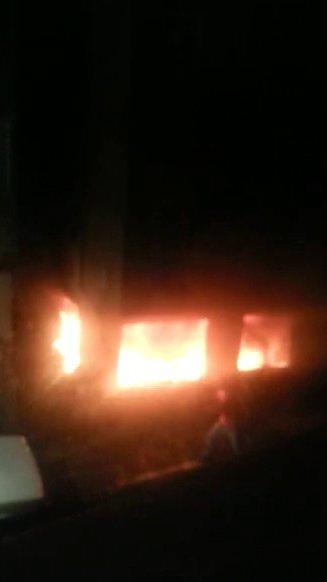 Suriyeli çocuklara mezar olan yangın kamerada