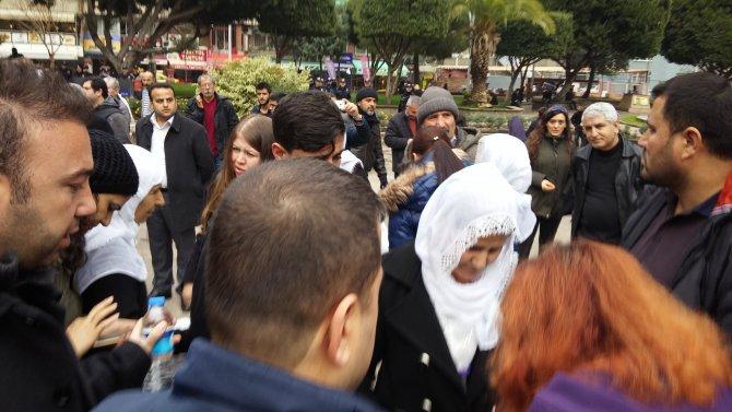 Kimliksiz eylemcilere gözaltı