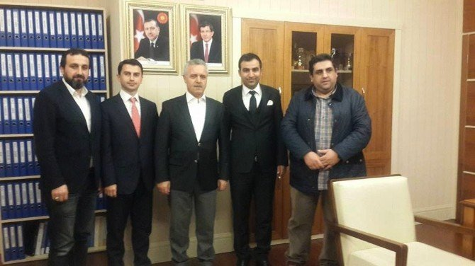 Akil Gençler Platformu, AK Parti Genel Merkez Teşkilat Başkanı Delil Ateş'i Ziyaret Etti