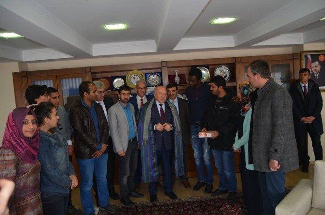 Uluslararası Öğrenci Derneği'nden Başkan Sekmen'e Ziyaret