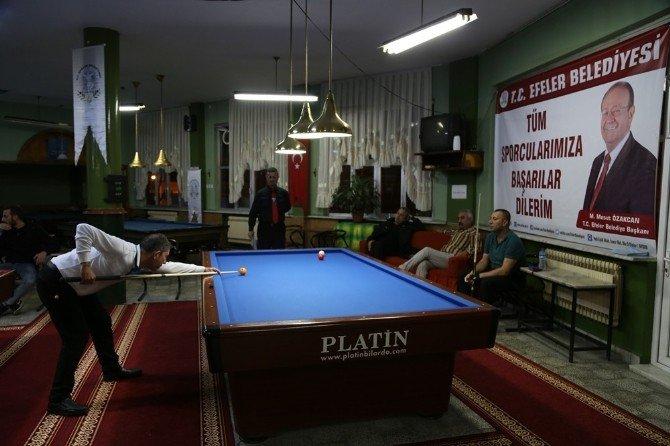 Efeler, Bilardo Bölge Şampiyonasına Ev Sahipliği Yapıyor