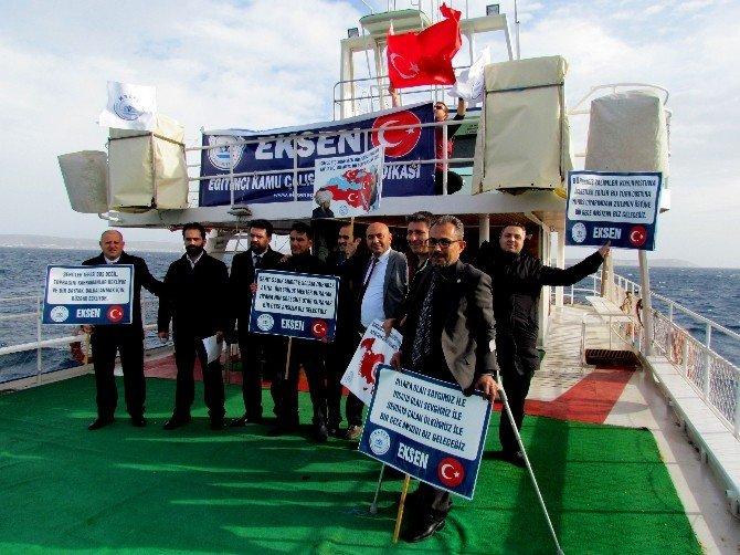 Ege Denizi'nde Yunanistan'ı Protesto Ettiler