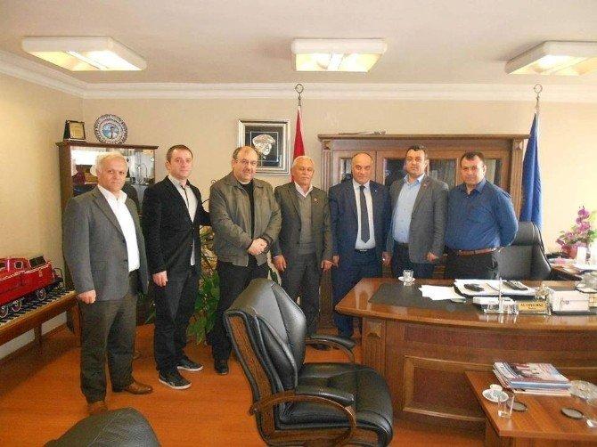 Başkan Şanlı Demiryol-iş'i Ziyaret Etti