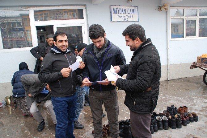 HÜDA-PAR Seçmeli Dersler Hususunda El İlanı Dağıttı