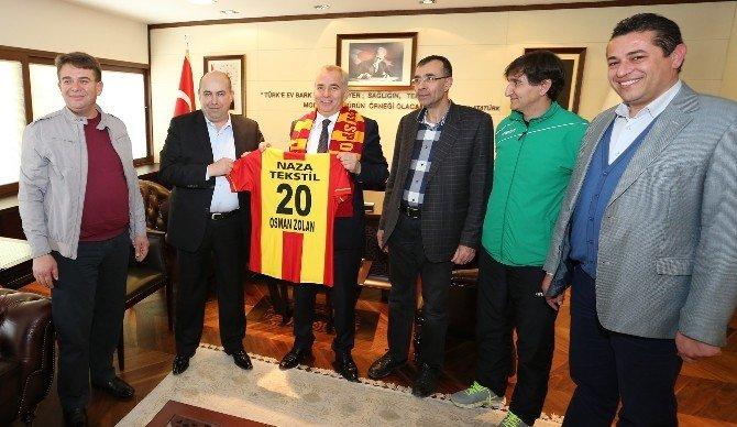 Kızılcabölükspor'dan Başkan Zolan'a Ziyaret