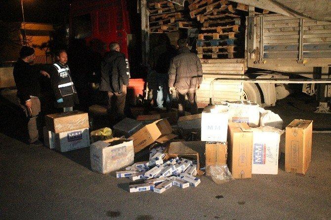 Konya'da 40 Bin Kaçak Sigara Ele Geçirildi