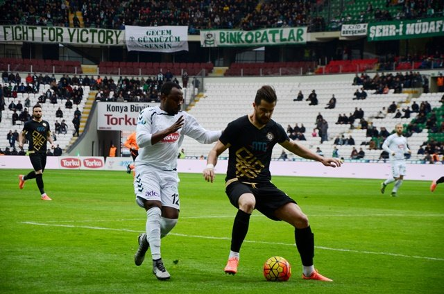 Torku Konyaspor: 0 Osmanlıspor: 0 (ilk yarı fotoğraflar)