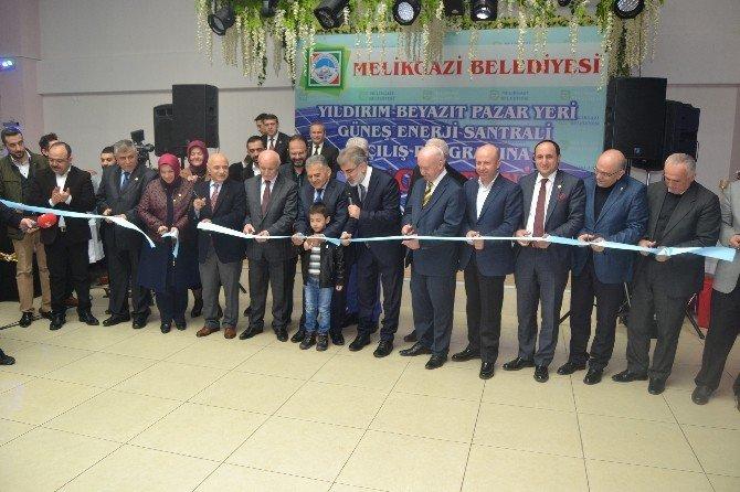 Melikgazi Belediyesi Tarafından Yaptırılan Güneş Enerji Santrali Açıldı