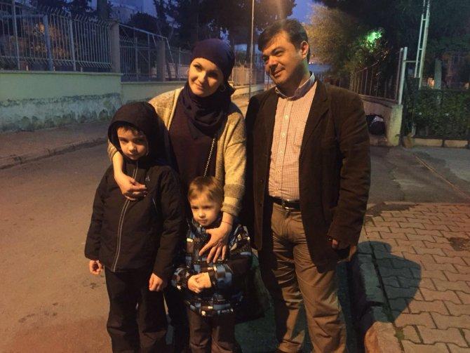 Rus anne Suriyeli babanın kaçırdığı çocuklarına Mersin'de kavuştu