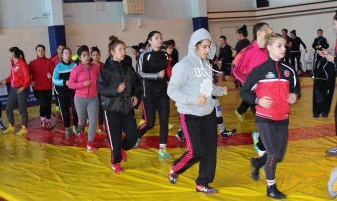 Genç Bayanlar Türkiye Güreş Şampiyonası Büyük Heyecana Sahne Oldu