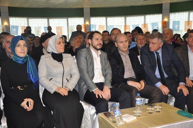 Bakan Albayrak Akyazı Stadı'nda İncelemelerde Bulundu