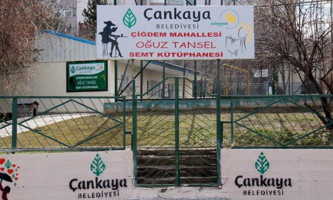 Çankaya'da referandum ile kurulan semt kütüphanesi açıldı