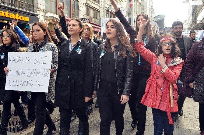 İstanbul Ülkü Ocakları'ndan 'Özgecan Aslan' Eylemi