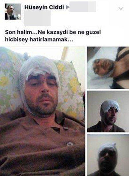 Yaptığı Kazayı Sosyal Medyada Paylaştı