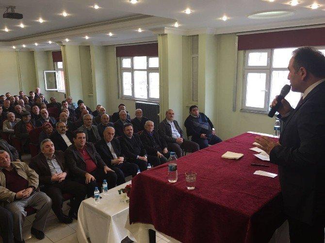 Murat Demir, Abana'da Muhtarlarla Bir Araya Geldi