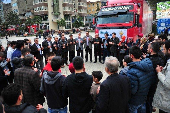 Orhangazi'den Bayırbucak Türkmenlerine Yardım Tır'ı
