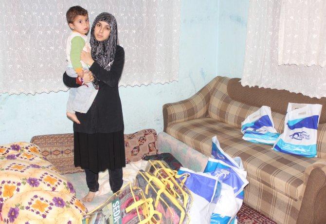 Bebeğini kaybeden Suriyeli aileye Kimse Yok Mu Derneği sahip çıktı