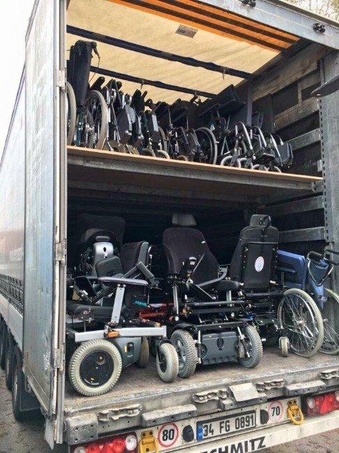 Avrupa Kütahyalılar Federasyonu'ndan 2 Tır Dolu Engelli Aracı