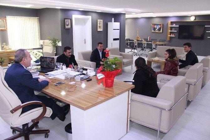 Başkan Şahiner Okul Gazetesi İçin Röportaj Verdi