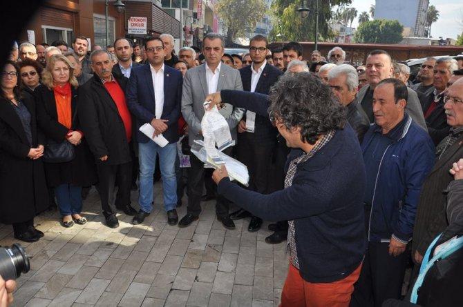 CHP'lilerden elektrik faturası protestosu