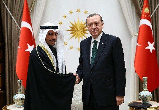 Kuveyt Ulusal Meclis Başkanı Al-ghanim Cumhurbaşkanlığı Külliyesi'nde