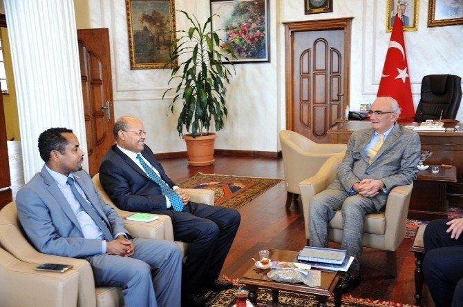 Etiyopyalı Diplomat, Başkan Yılmaz'ı Ziyaret Etti